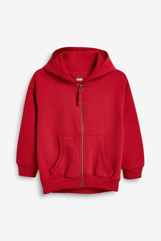 Red Zip Through Hoodie (3-16yrs)