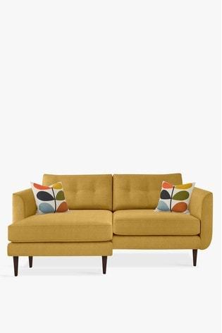 Orla Kiely Linden Large Chaise Sofa With Walnut Feet