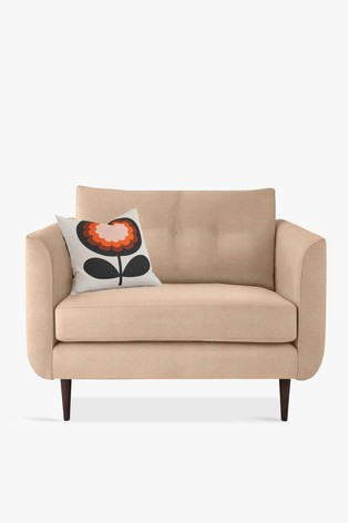 Orla Kiely Linden Snuggle Sofa With Walnut Feet