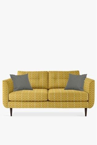 Orla Kiely Linden Medium Sofa With Walnut Feet