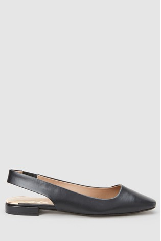 Next Buy Black From Toe Square Comfort® Slingbacks Forever Luxembourg jLzUpqSMVG