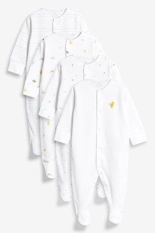 Bright Farm Animal Character Sleepsuits Four Pack (0-2yrs)