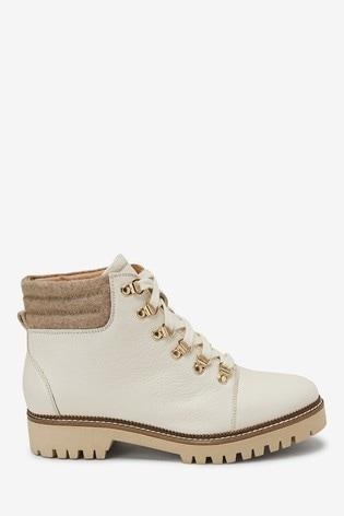 Style Cream Boots Hiker Up Lace OXwZiTlPku