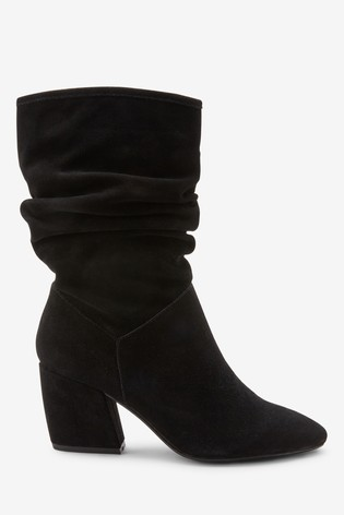 fbf5578f4e99 Buy Black Forever Comfort® Suede Slouch Boots from Next India