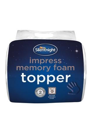 Silentnight 2.5cm Impress Memory Foam Mattress Topper
