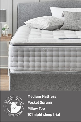 3600 Pocket Sprung With Pillowtop Collection Luxe Medium Mattress