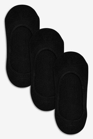 Black Cotton Rich Footsies Three Pack