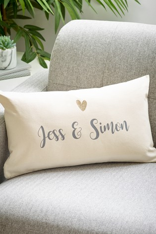 Personalised Heart Mr And Mrs Cushion by Loveabode
