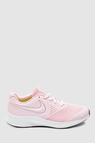new product cc08f a16e0 Nike Run Pink Star Runner Youth Trainers