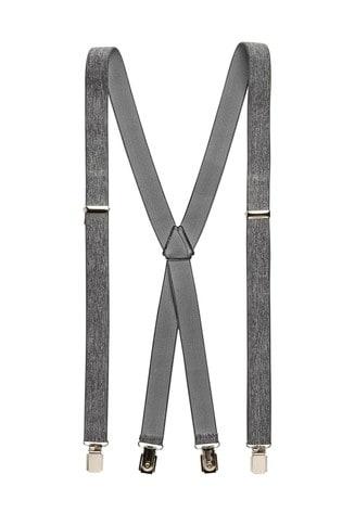 Grey Marl Classic Men's Braces