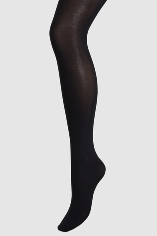 Black Luxe Opaque 60D Tights Two Pack