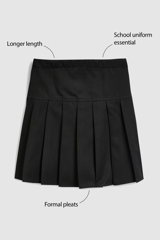 the best hot product shoes for cheap Black Longer Length Pleat Skirt (3-16yrs)