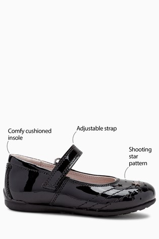 3f6a046aad825 Black Patent Star Mary Jane Shoes (Older)