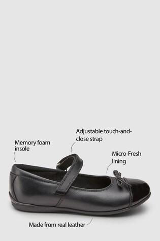 b668ec0183739 Black Patent Toe Cap Mary Jane Shoes (Older)