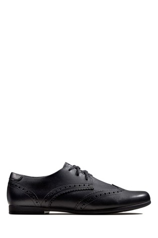 Clarks Black Scala Lace Y Shoes