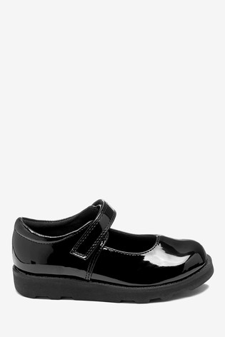 Black Patent Junior Mary Jane Shoes