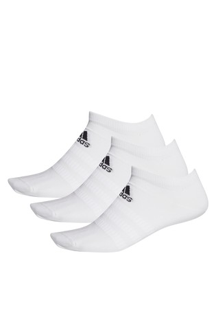 adidas Kids White Low Trainer Socks 3 Pack