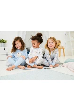 Blue 3 Pack Unicorn Snuggle Pyjamas (9mths-8yrs)