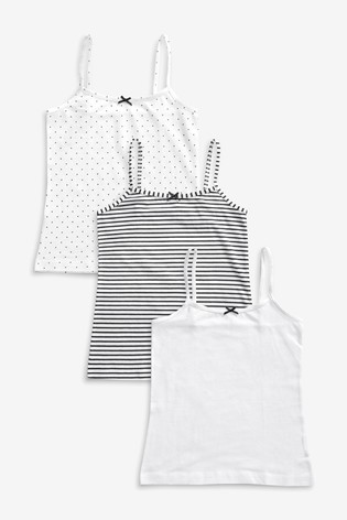 Monochrome 3 Pack Camis (1.5-16yrs)