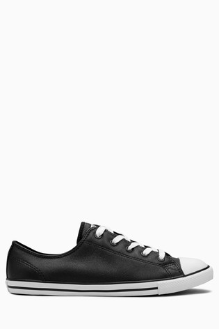 Converse Black Chuck Taylor All Star Dainty OX Trainers