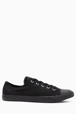 Converse Chuck Taylor All Star Dainty Black White Womens Shoes SNEAKERS 530054C UK 5