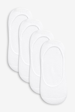 White Cushion Sole Footlets Four Pack