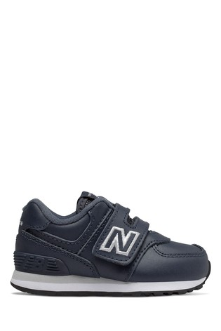 cheap for discount b2974 f6901 New Balance Leather 574 Infant Trainers