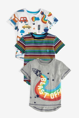 Rainbow 3 Pack Rocket T-Shirts (3mths-7yrs)