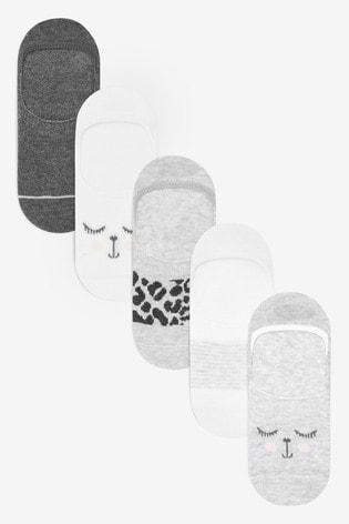 Monochrome 5 Pack Animal Footsies