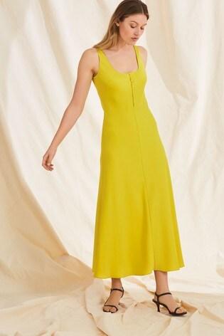 2f3e66cbf6d005 Buy Whistles Yellow Pipa Satin Slip Dress from Next Poland