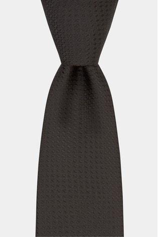 Moss London Black Textured Tie