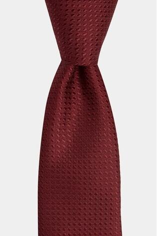 Moss London Wine Textured Tie