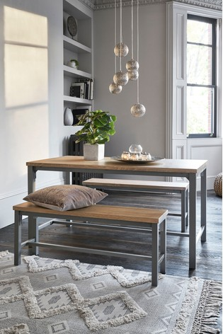 Excellent Ellison Dining Table And Bench Set Alphanode Cool Chair Designs And Ideas Alphanodeonline