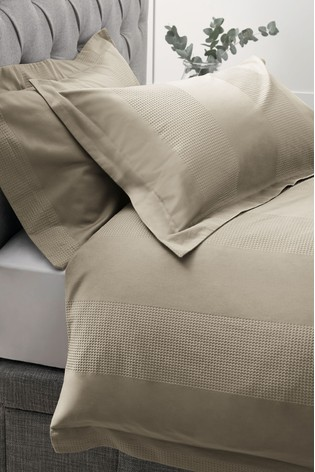Set of 2 Cotton Waffle 300 Thread Count Pillowcases