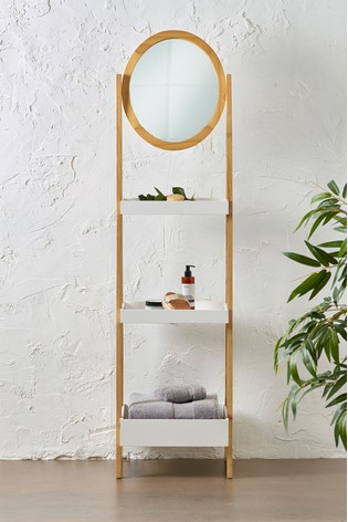 Three Shelf Mirror Storage Unit