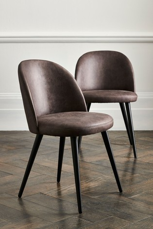 Buy Set of 2 Zola Dining Chairs With Black Legs from the ...