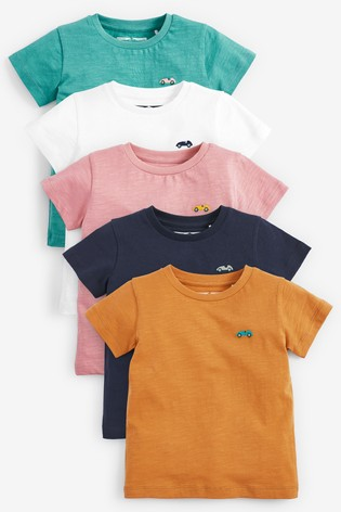Mineral 5 Pack Short Sleeve T-Shirts (3mths-7yrs)