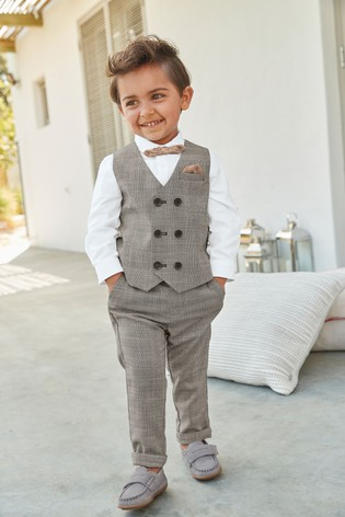 Grey Check Formal Trousers (3mths-7yrs)