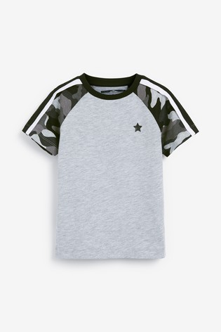 Monochrome Colourblock Camo Shorts And T-Shirt Set (3mths-7yrs)