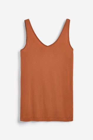 Tan Brown Slouch Vest