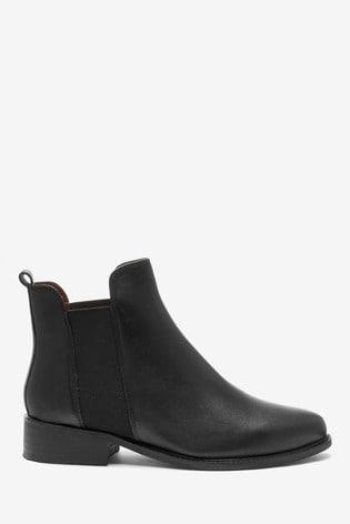 Black Regular/Wide Fit Forever Comfort® Leather Chelsea Boots