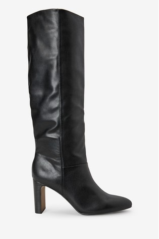 Feature Heel Knee High Boots from the