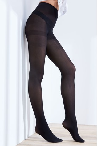Black Luxe Opaque 40D Tights Two Pack