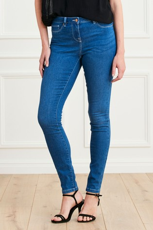 Mid Blue Denim Leggings