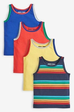 Multi 4 Pack Stripe Vests (3mths-7yrs)