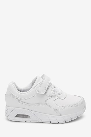 White Elastic Lace Trainers (Younger)