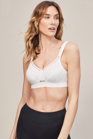 Shock Absorber White Active Support Non Wired Sports Bra