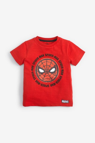 Red Spider-Man™ Short Sleeve Sequin T-Shirt (12mths-8yrs)