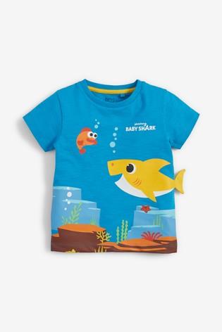 Blue Baby Shark Interactive T-Shirt (3mths-7yrs)