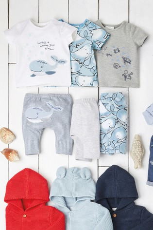 Blue/White 3 Pack Whale T-Shirts With Stretch (0mths-3yrs)